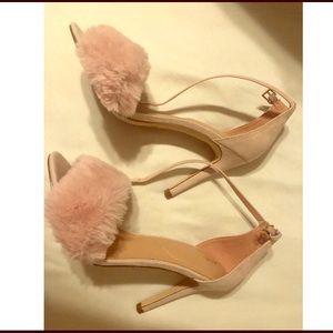 Aldo Lalisa Pink Faux Fur Heels